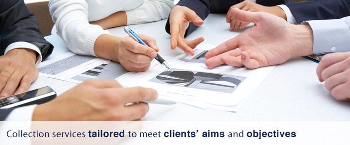 Tailored debt collection services